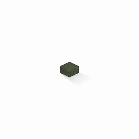 Caixa de presente | Quadrada F Card Scuro Verde 5,0x5,0x3,5