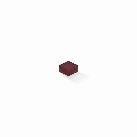 Caixa de presente | Quadrada F Card Scuro Vermelho 5,0x5,0x3,5