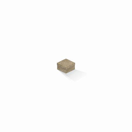 Caixa de presente | Quadrada Kraft 5,0x5,0x3,5