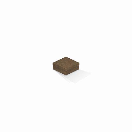 Caixa de presente   Quadrada F Card Scuro Marrom 7,0x7,0x3,5