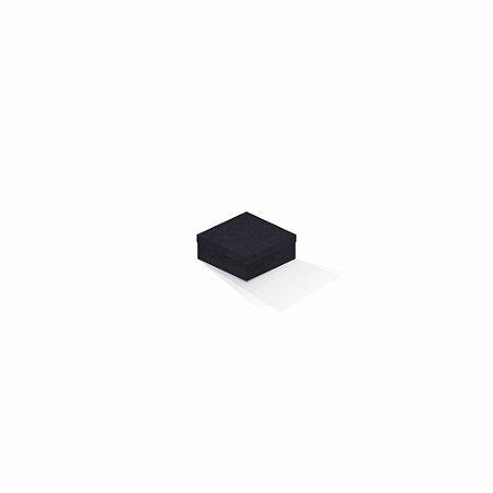 Caixa de presente | Quadrada F Card Scuro Preto 7,0x7,0x3,5