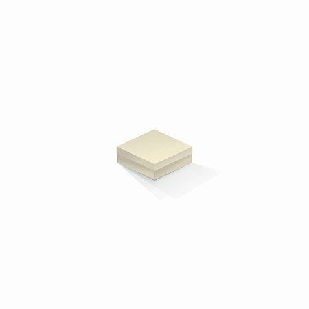 Caixa de presente | Quadrada Color Plus Marfim 8,5x8,5x3,5