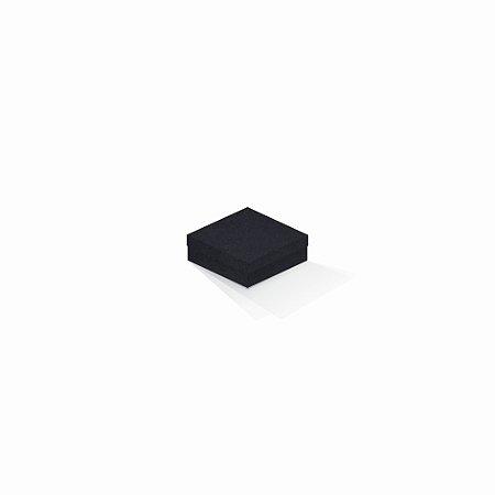 Caixa de presente | Quadrada F Card Scuro Preto 8,5x8,5x3,5