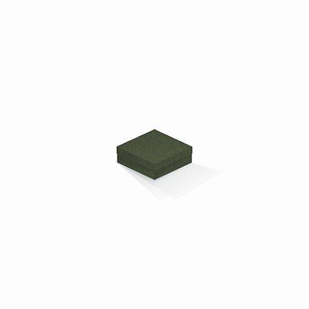 Caixa de presente | Quadrada F Card Scuro Verde 8,5x8,5x3,5