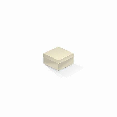 Caixa de presente | Quadrada Color Plus Marfim 9,0x9,0x6,0