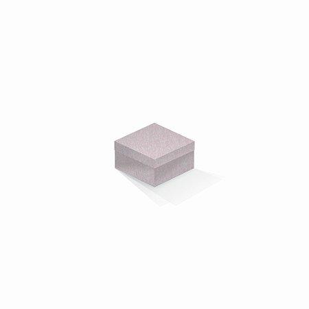 Caixa de presente   Quadrada Color Plus Metálico Ibiza 9,0x9,0x6,0