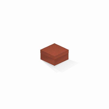 Caixa de presente | Quadrada F Card Scuro Laranja 9,0x9,0x6,0