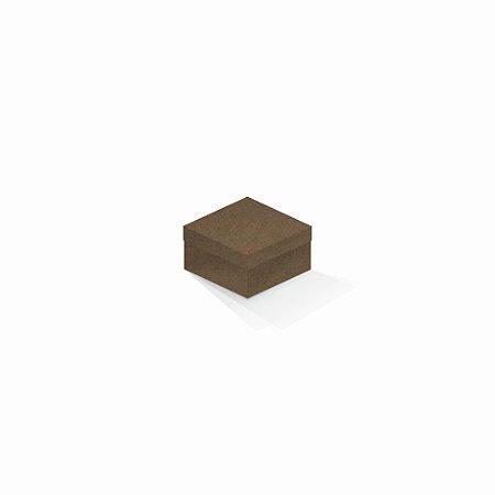 Caixa de presente | Quadrada F Card Scuro Marrom 9,0x9,0x6,0