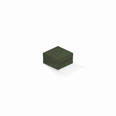 Caixa de presente | Quadrada F Card Scuro Verde 9,0x9,0x6,0