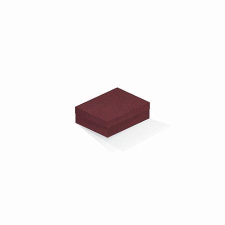 Caixa de presente | Retângulo F Card Scuro Vermelho 10,0x13,0x3,5
