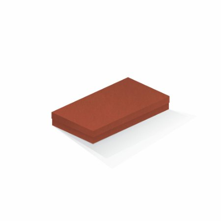 Caixa de presente | Retângulo F Card Scuro Laranja 13,0x24,5x4,0