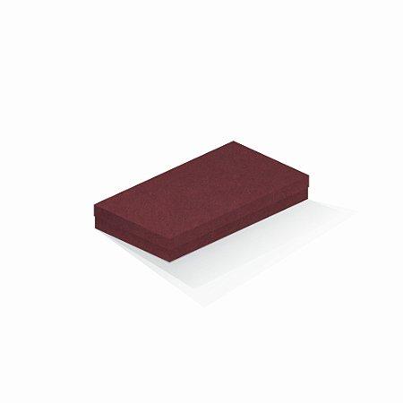 Caixa de presente | Retângulo F Card Scuro Vermelho 13,0x24,5x4,0