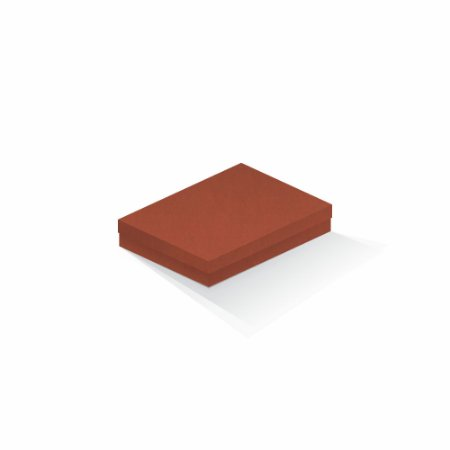 Caixa de presente | Retângulo F Card Scuro Laranja  14,0x19,0x4,0
