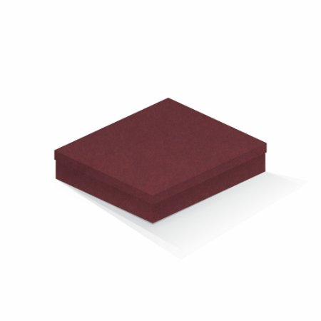 Caixa de presente | Retângulo F Card Scuro Vermelho 21,7x27,7x5,0