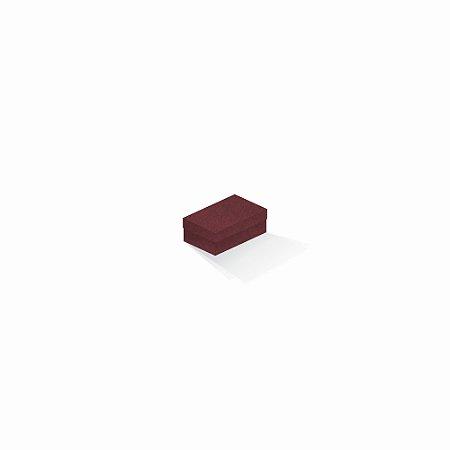 Caixa de presente | Retângulo F Card Scuro Vermelho 5,0x8,0x3,5