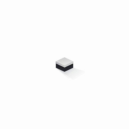 Caixa de presente | Quadrada F Card Branco-Preto 5,0x5,0x3,5