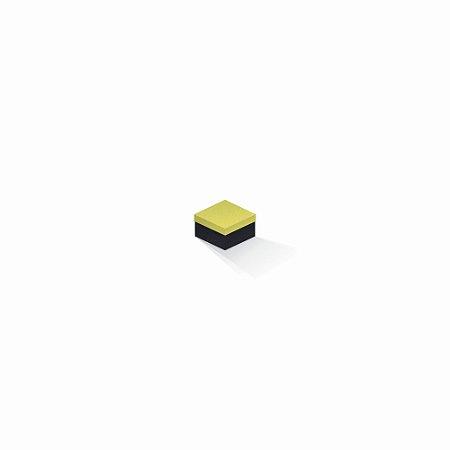 Caixa de presente   Quadrada F Card Canário-Preto 5,0x5,0x3,5