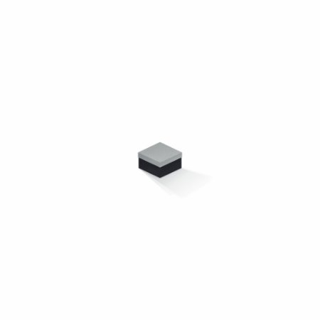 Caixa de presente | Quadrada F Card Cinza-Preto 5,0x5,0x3,5