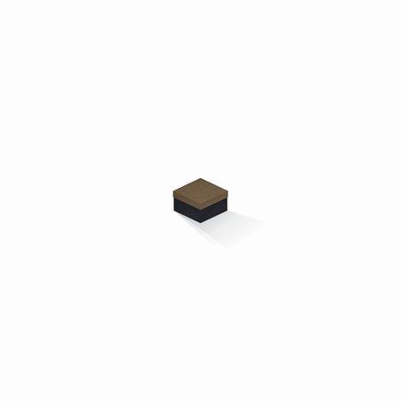 Caixa de presente | Quadrada F Card Scuro Marrom-Preto 5,0x5,0x3,5
