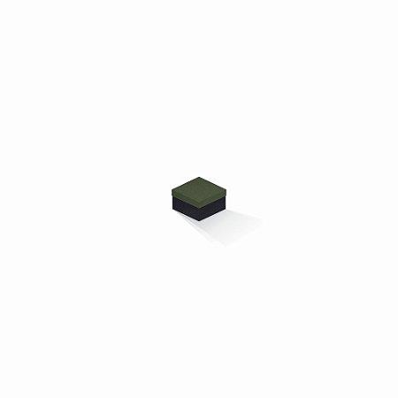 Caixa de presente   Quadrada F Card Scuro Verde-Preto 5,0x5,0x3,5