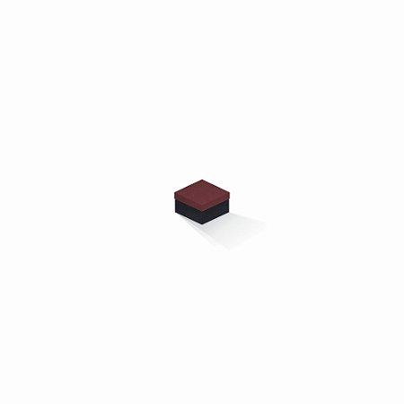 Caixa de presente | Quadrada F Card Scuro Vermelho-Preto 5,0x5,0x3,5