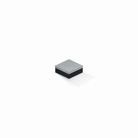 Caixa de presente | Quadrada F Card Cinza-Preto 7,0x7,0x3,5