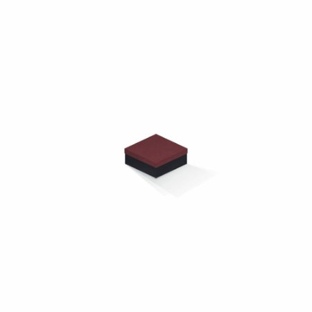 Caixa de presente | Quadrada F Card Scuro Vermelho-Preto 7,0x7,0x3,5