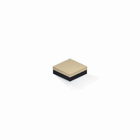 Caixa de presente | Quadrada F Card Areia-Preto 8,5x8,5x3,5