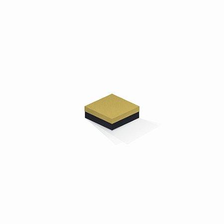 Caixa de presente | Quadrada F Card Ouro-Preto 8,5x8,5x3,5