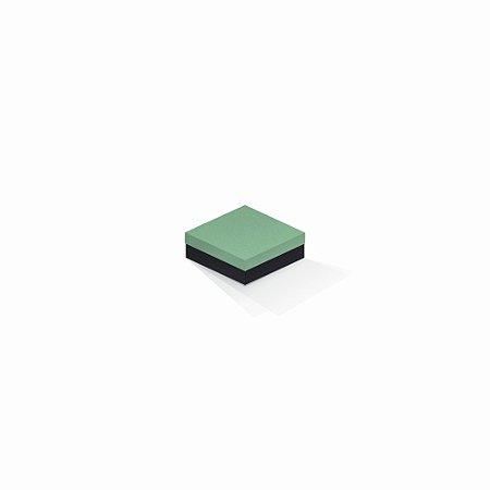 Caixa de presente | Quadrada F Card Verde-Preto 8,5x8,5x3,5