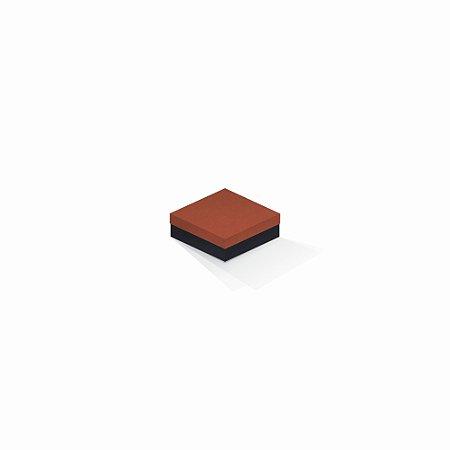 Caixa de presente | Quadrada F Card Scuro Laranja-Preto 8,5x8,5x3,5
