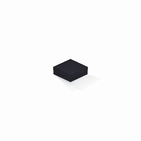 Caixa de presente   Quadrada F Card Scuro Preto-Preto 8,5x8,5x3,5