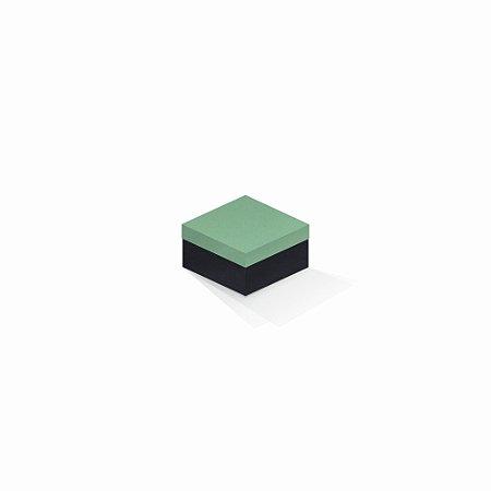 Caixa de presente   Quadrada F Card Verde-Preto 9,0x9,0x6,0