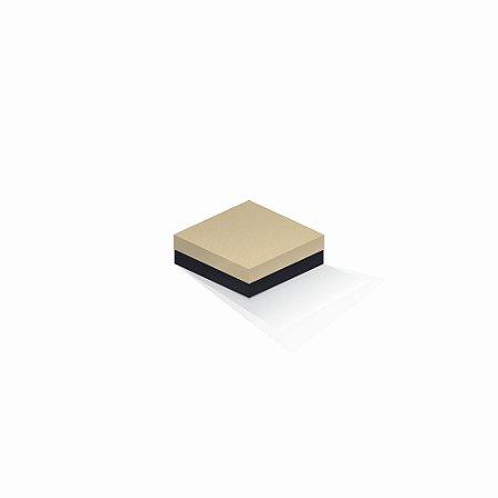 Caixa de presente | Quadrada F Card Areia-Preto 10,5x10,5x4,0