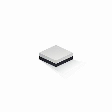 Caixa de presente | Quadrada F Card Branco-Preto 10,5x10,5x4,0