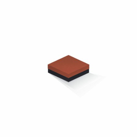 Caixa de presente | Quadrada F Card Scuro Laranja-Preto 10,5x10,5x4,0