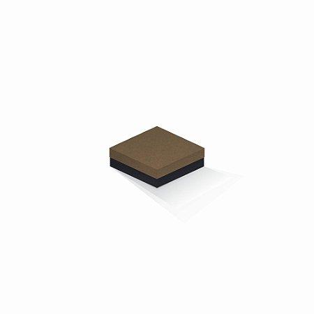 Caixa de presente | Quadrada F Card Scuro Marrom-Preto 10,5x10,5x4,0