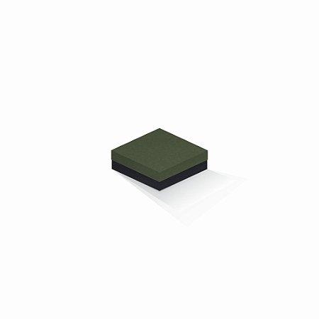 Caixa de presente | Quadrada F Card Scuro Verde-Preto 10,5x10,5x4,0