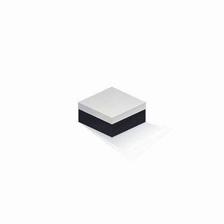 Caixa de presente   Quadrada F Card Branco-Preto 10,5x10,5x6,0
