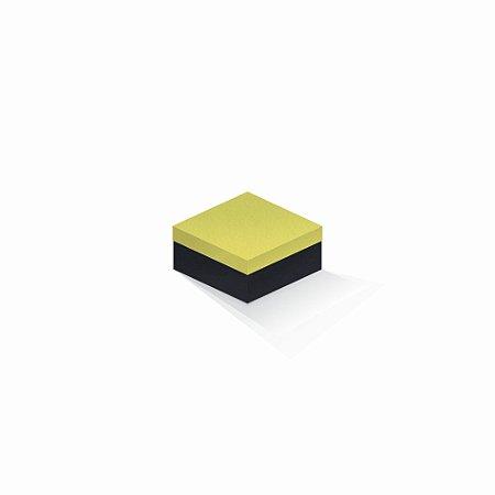 Caixa de presente   Quadrada F Card Canário-Preto 10,5x10,5x6,0