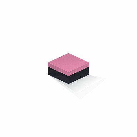 Caixa de presente   Quadrada F Card Rosa-Preto 10,5x10,5x6,0