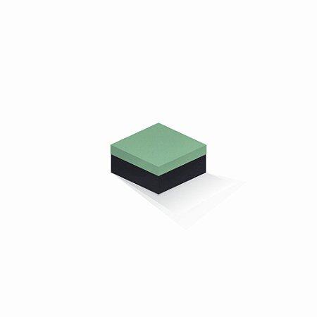 Caixa de presente | Quadrada F Card Verde-Preto 10,5x10,5x6,0