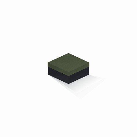Caixa de presente | Quadrada F Card Scuro Verde-Preto 10,5x10,5x6,0