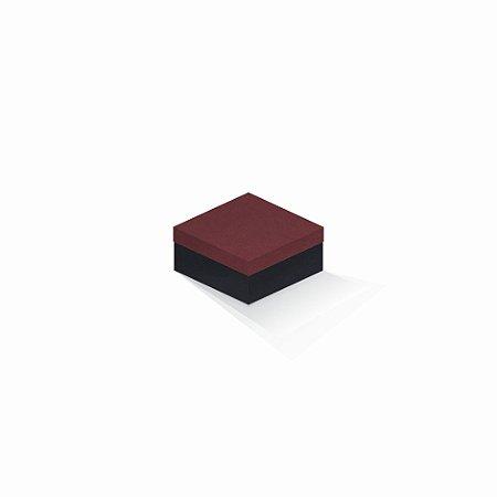 Caixa de presente | Quadrada F Card Scuro Vermelho-Preto 10,5x10,5x6,0