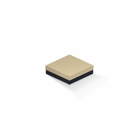 Caixa de presente | Quadrada F Card Areia-Preto 12,0x12,0x4,0