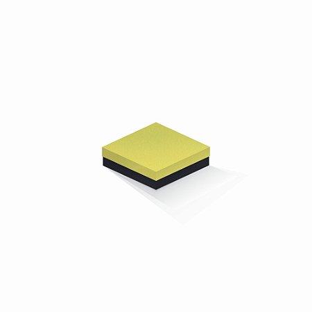 Caixa de presente | Quadrada F Card Canário-Preto 12,0x12,0x4,0