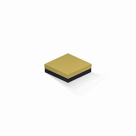 Caixa de presente   Quadrada F Card Ouro-Preto 12,0x12,0x4,0