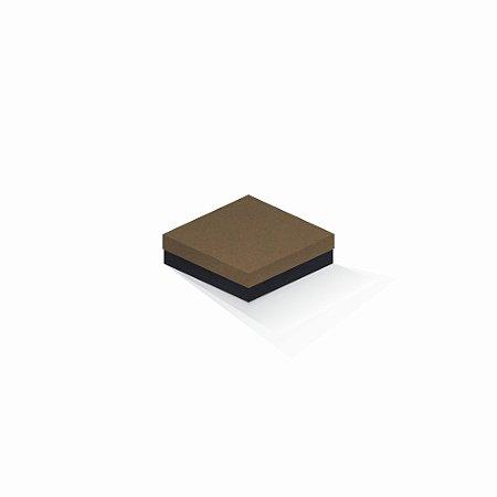 Caixa de presente | Quadrada F Card Scuro Marrom-Preto 12,0x12,0x4,0