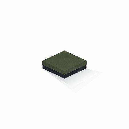 Caixa de presente | Quadrada F Card Scuro Verde-Preto 12,0x12,0x4,0