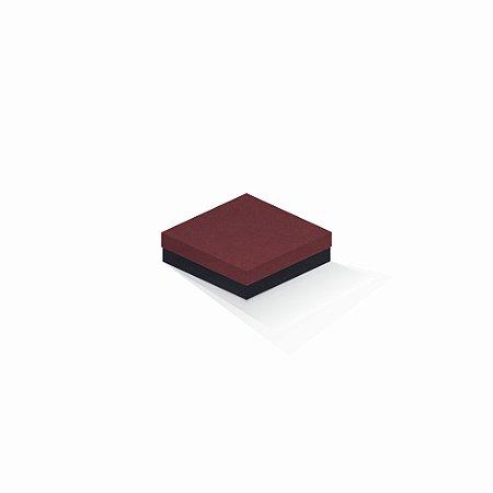 Caixa de presente | Quadrada F Card Scuro Vermelho-Preto 12,0x12,0x4,0